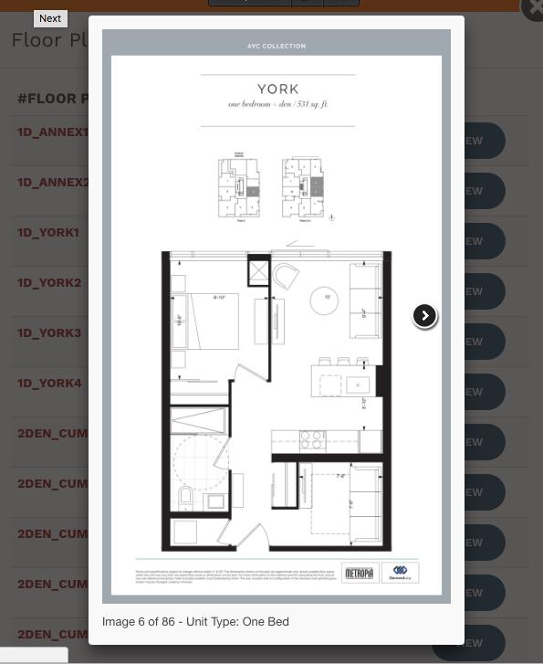 View Condo Floor Plans