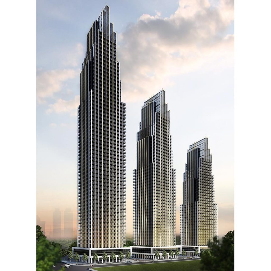 edge towers exterior shot 3 buildings