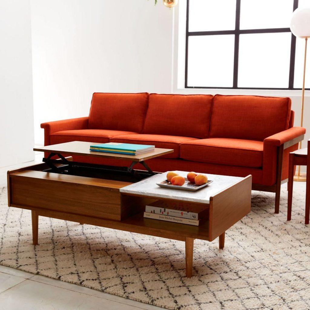 Mid Century Pop Up Storage Coffee Table Condosky Realty